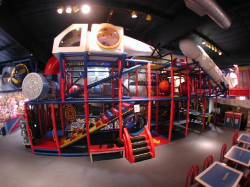 indoor playground equipment installation