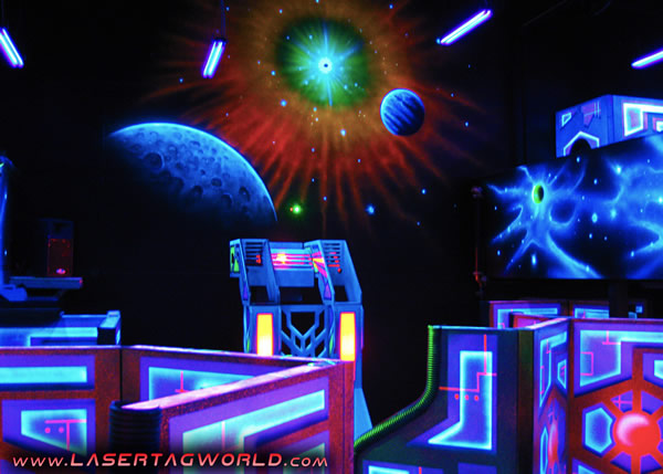 Cyber Quest laser tag arena from Creative Works