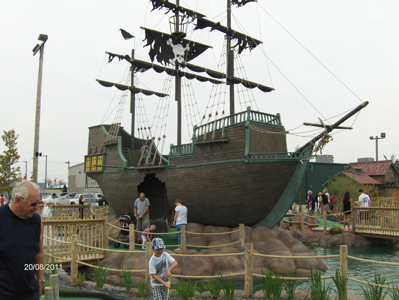themed pirate ship hits ontario mini-golf
